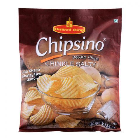United King Chipsino Crinkle Salty Potato Chips, 100g