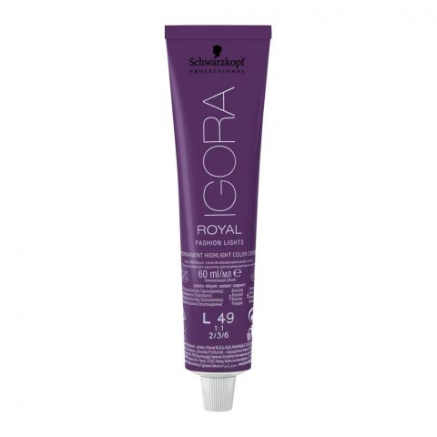 Schwarzkopf Igora Royal Fashion Lights Hair Colour, L-49 Beige Violet