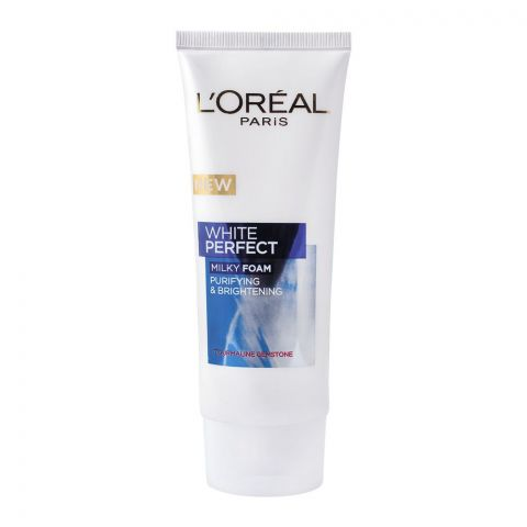 L'Oreal Paris New White Perfect Purifying & Brightening Milky Foam, 100ml