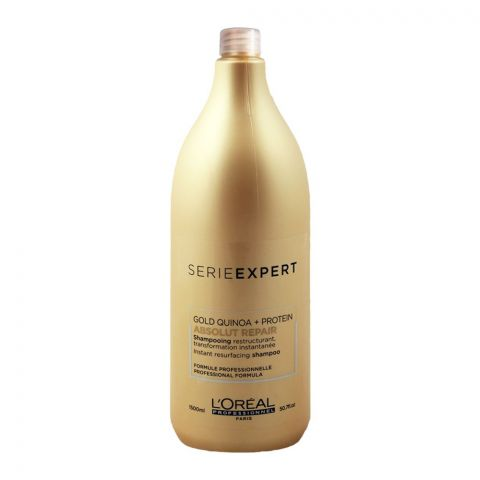 L'Oreal Professionnel Serie Expert Gold Quinoa + Protein Absolut Repair Shampoo, 1500ml