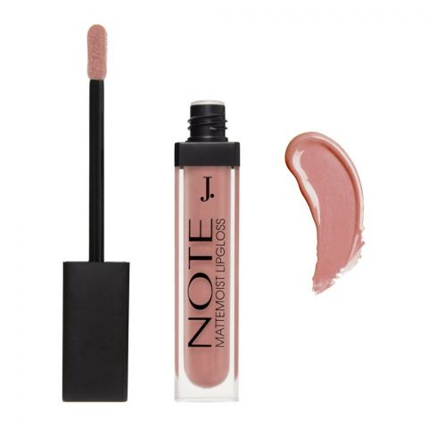 J. Note Mattemoist Lip Gloss, 414 Pinky Milk, With Macadamia Oil + Vitamin E
