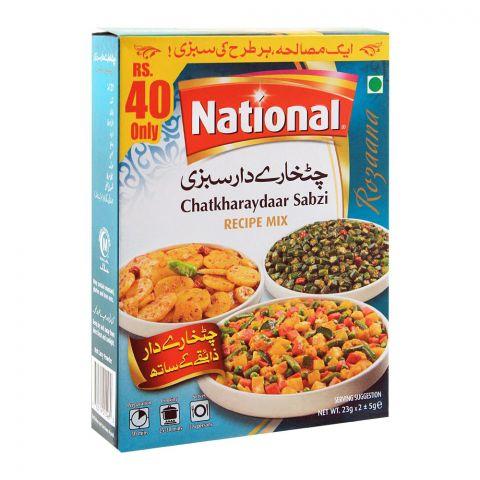 National Chatkharaydar Sabzi Recipe Masala Mix, 23x2g