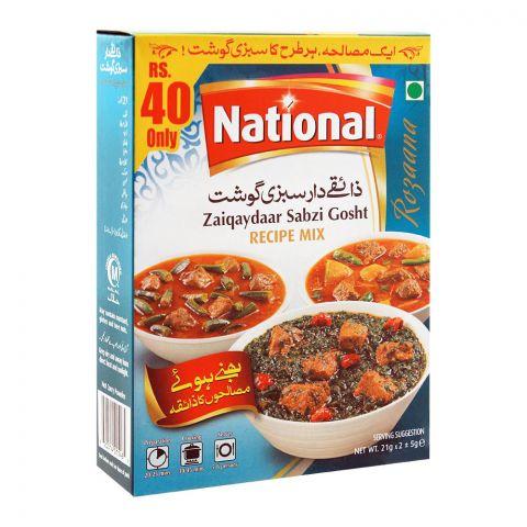 National Zaiqaydaar Sabzi Gosht Masala Recipe Mix, 23x2g
