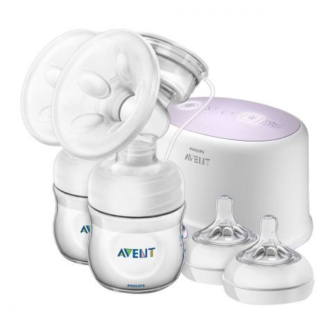 Avent Ultra Comfort Double Electric Breast Pump, 0m+, SCF334/31