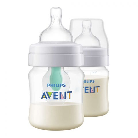 Avent Anti-Colic Feeding Bottle, 2-Pack, 0m+, 125ml/4oz, SCF810/24