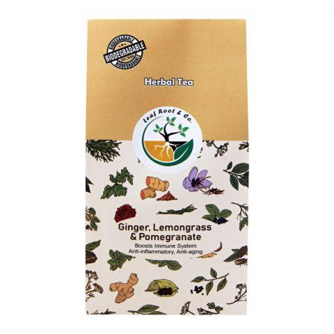 Leaf Root Ginger, Lemongrass & Pomegranate Herbal Tea, Tea Bags, 20-Pack