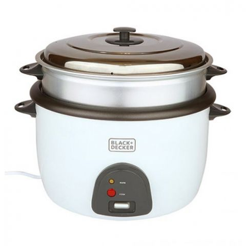 Black & Decker Electric Rice Cooker, 4.5 Liter, White, RC4500