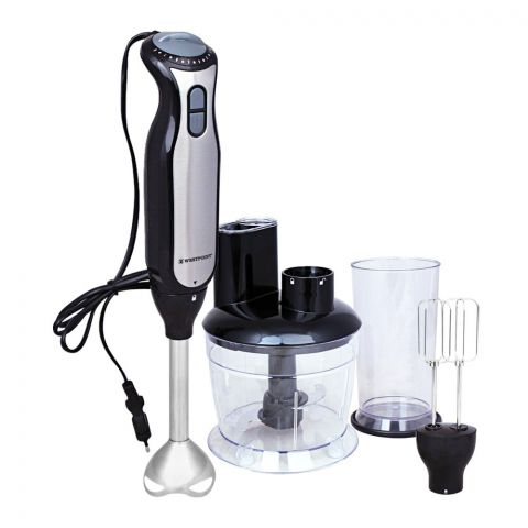 West Point Deluxe Hand Blender, Mixer + Whipper + Chopper, WF-9916