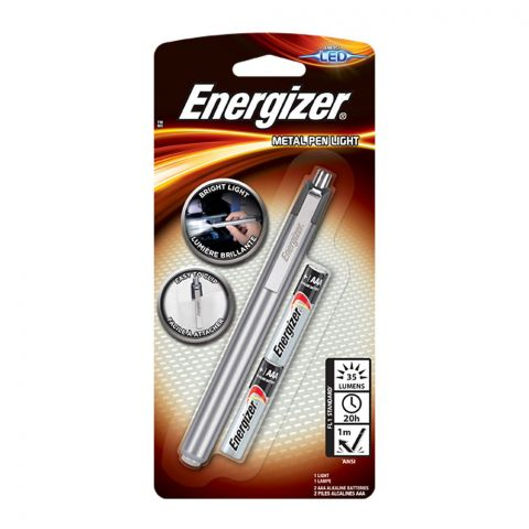 Energizer LED Metal Pen Light, AAA-2, PLM22
