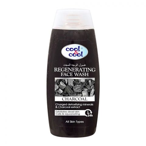 Cool & Cool Charcoal Regenerating Face Wash, All Skin Types, 200ml