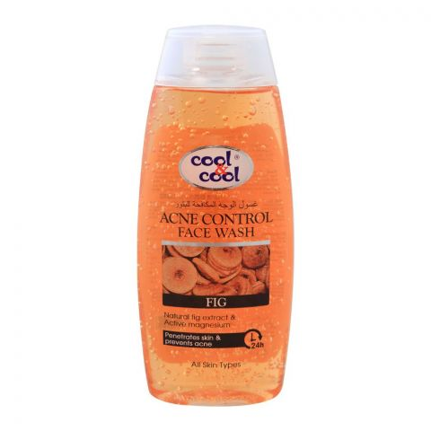 Cool & Cool Fig Acne Control Face Wash, All Skin Types, 200ml