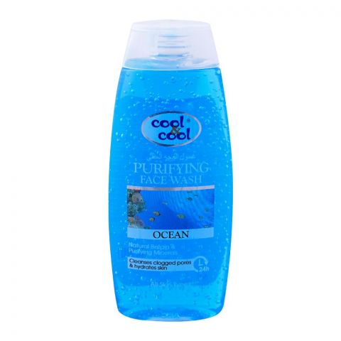 Cool & Cool Ocean Purifying Face Wash, Cleanses Clogged Pores, All Skin Types, 200ml