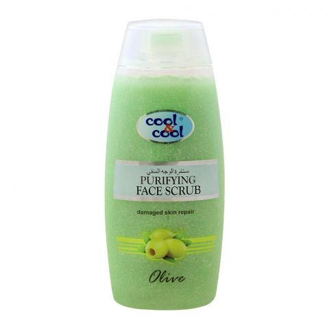 Cool & Cool Olive Purifying Face Scrub, Damaged Skin Repair, 200ml