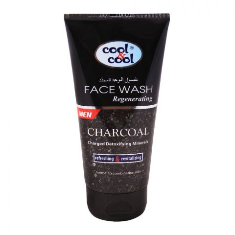 Cool & Cool Charcoal Regenerating Face Wash, Normal to Combination Skin, 150ml