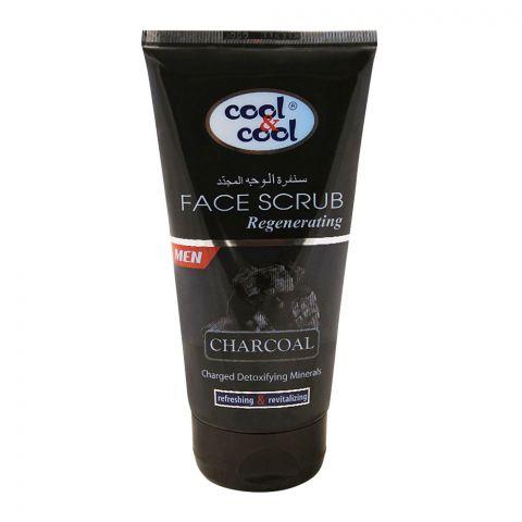Cool & Cool Men Charcoal Regenerating Face Scrub, 150ml