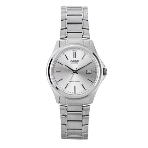 Casio Enticer Women's Silver Dial Stainless Steel Watch, LTP-1183A-7ADF
