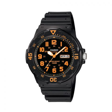 Casio Youth Standard Analog Black Dial Men's Watch, Resin Strap, MRW-200H-4BVDF