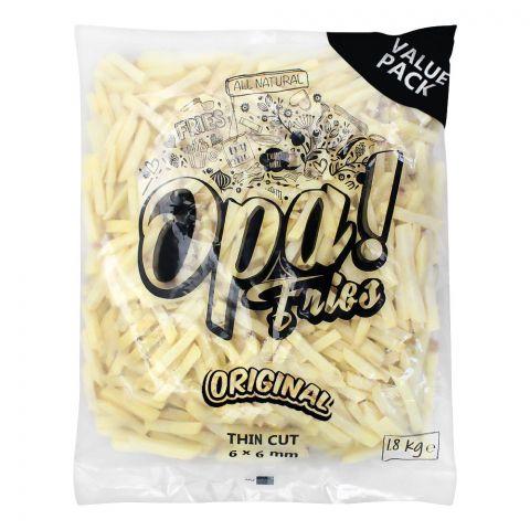 Opa! Fries Original Thin Cut, 6x6mm, 2 KG, Value Pack