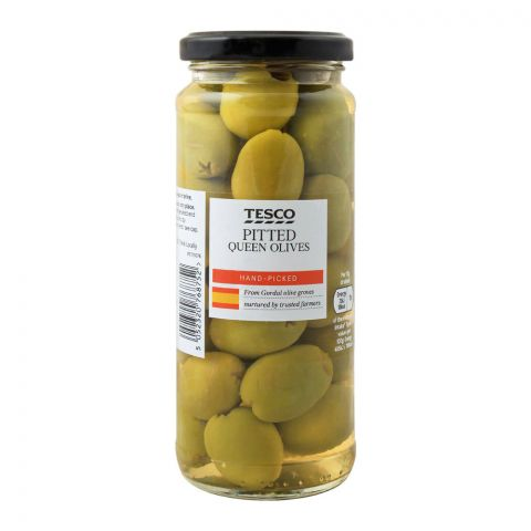 Tesco Pitted Queen Olives, 340g