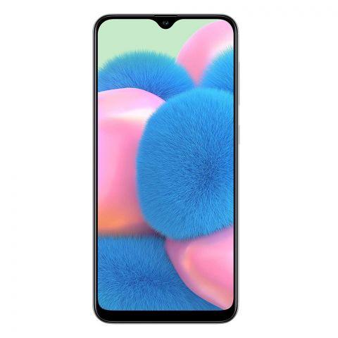 Samsung Galaxy A30S 4GB/64GB Smartphone, Prism Crush White, SM-A307