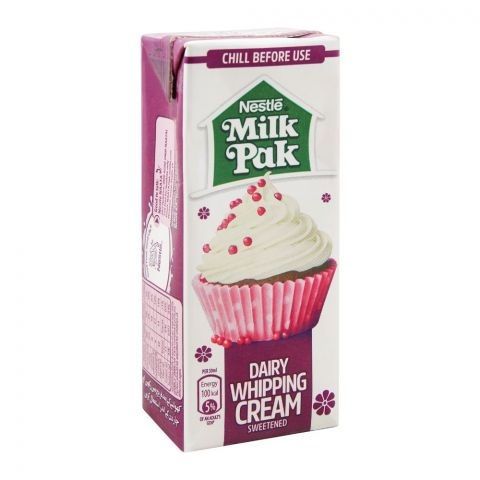 Milkpak Dairy Whipping Cream, Sweetened, 200ml