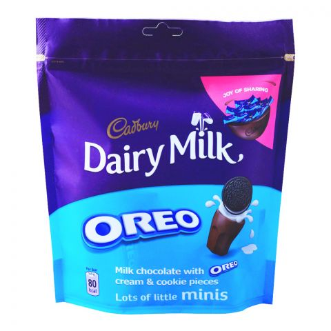 Cadbury Dairy Milk Oreo Mini Bars, 188.5g, Bag