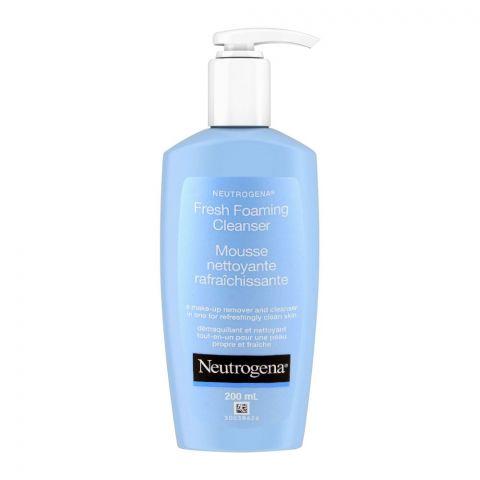Neutrogena Fresh Foaming Mousse Cleanser, Makeup Remover + Cleanser, 200ml