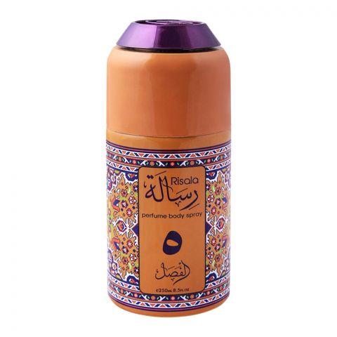 Risala 5 Deodorant Perfume Body Spray, 250ml