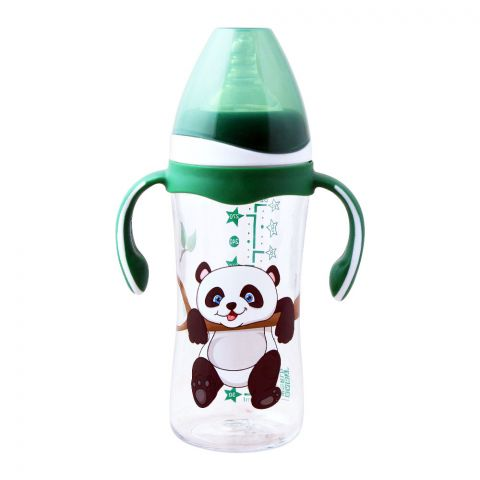 Baby World Contra Colic Wide Neck Baby Feeding Bottle, With Handle, Panda, 300ml, BW2035