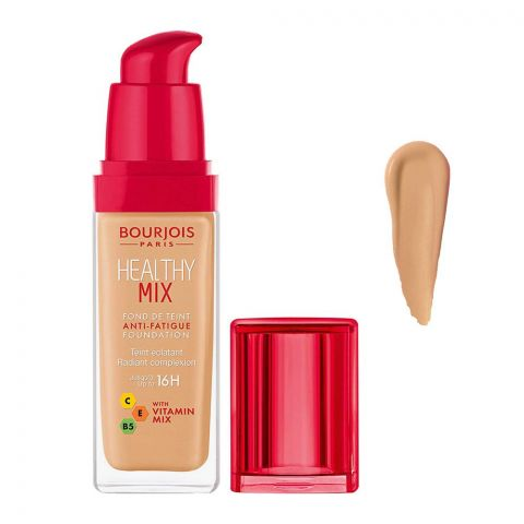 Bourjois Healthy Mix Anti-Fatigue Foundation, 56.5 Maple, 30ml