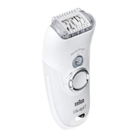 Braun Silk Epil 7 Legs, Body & Face Epilator, White, Dry/Wet, 7880