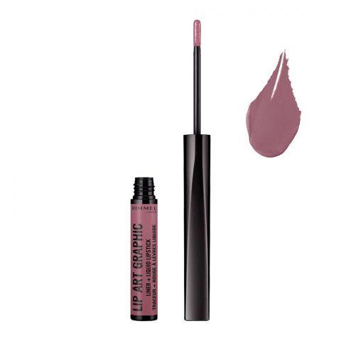 Rimmel Lip Art Graphic Liner + Liquid Lipstick, 220 Vandal