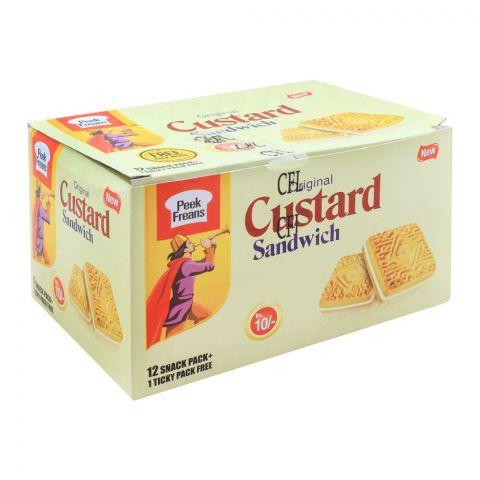Peek Custard Sandwich Biscuits, 12 Snack Pack