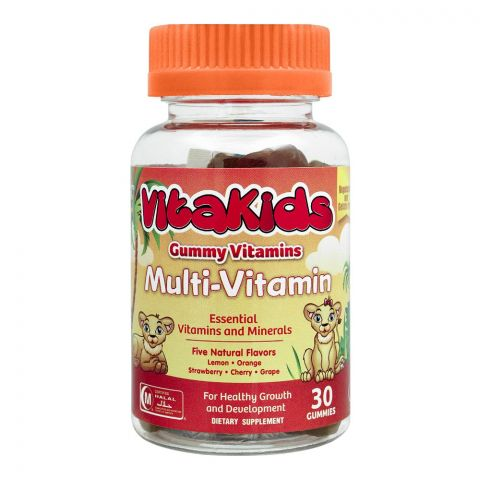 VitaKids Multi-Vitamins Gummies, Five Flavors, 30 Gummies