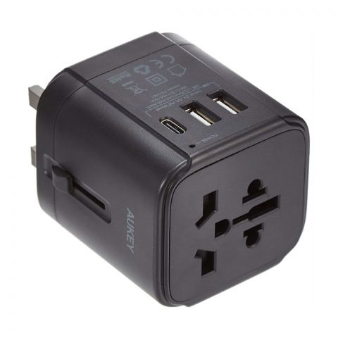 Aukey Universal Travel Adapter, Black, PA-TA01
