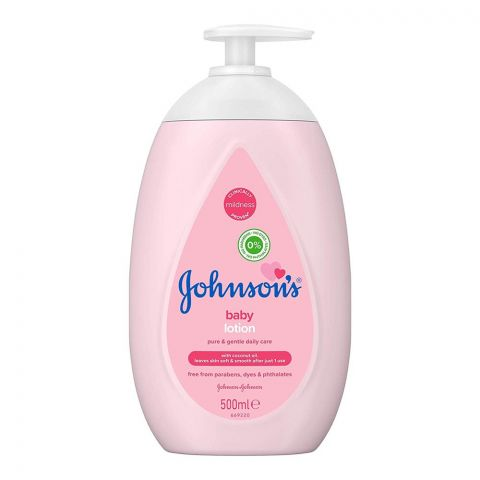 Johnson's Pure & Gentle Daily Care Baby Lotion, 500ml
