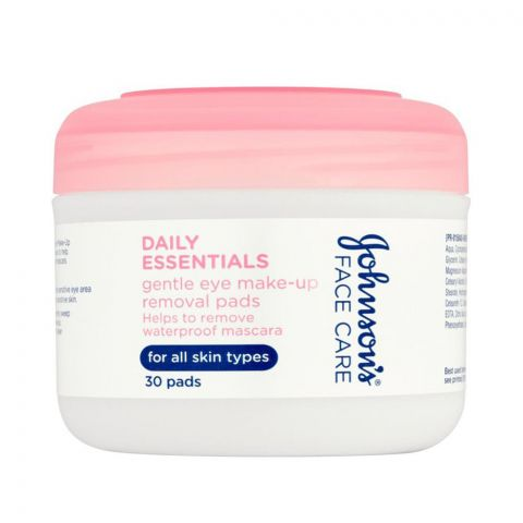 Johnson's Daily Essentials Gentle Eye Make Up Remover Pads, 30-Pack