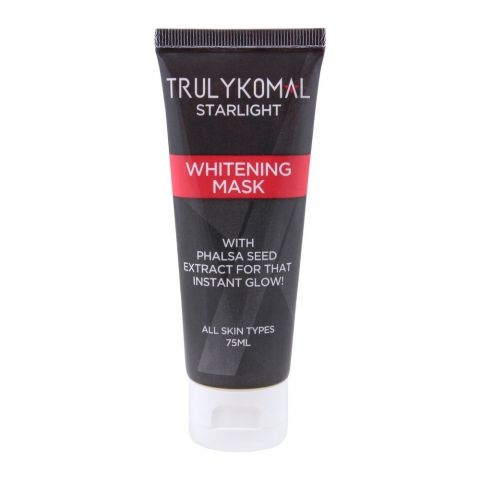Truly Komal Starlight Whitening Mask, All Skin Types, 75ml