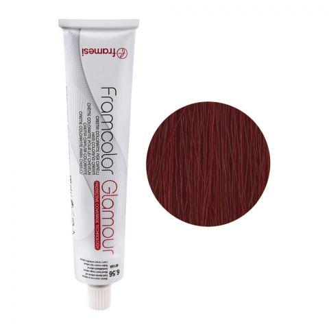 Framesi Framcolor Glamour Hair Coloring Cream, 6.56 Dark Blonde Natural Red