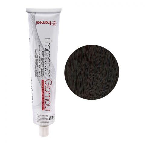 Framesi Framcolor Glamour Hair Coloring Cream, 4.12 Medium Chestnut Natural Ash