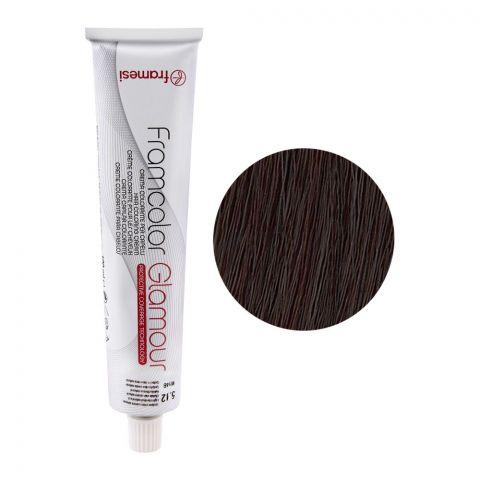 Framesi Framcolor Glamour Hair Coloring Cream, 5.12 Light Chestnut Natural Ash