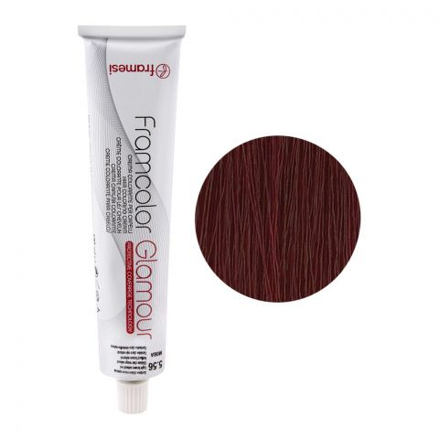 Framesi Framcolor Glamour Hair Coloring Cream, 5.56 Light Brown Natural Red