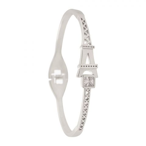 Paris Girls Bangle, Silver, NS-027