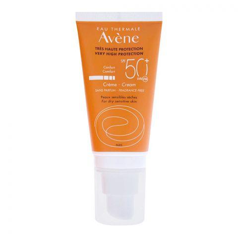 Avene Very High Protection SPF 50+ Cream For Dry Sensitive Skin, Fragrance Free, 50ml
