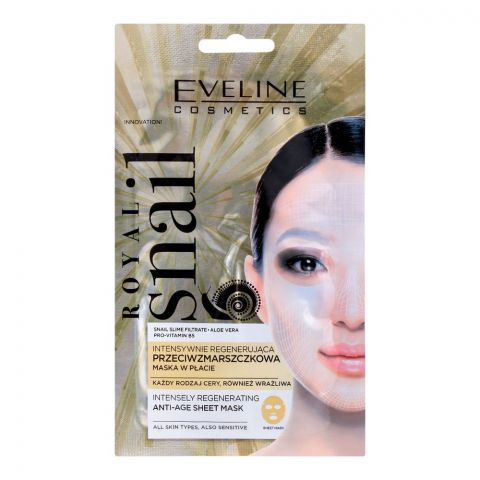 Eveline Royal Snail Intensely Regenerating Anti-Aging Sheet Mask, All Skin Types