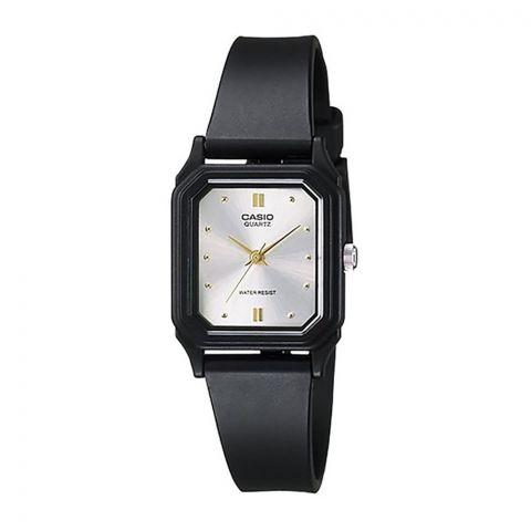 Casio Women's Black Resin Quartz Watch With White Dial, LQ-142E-7ADF