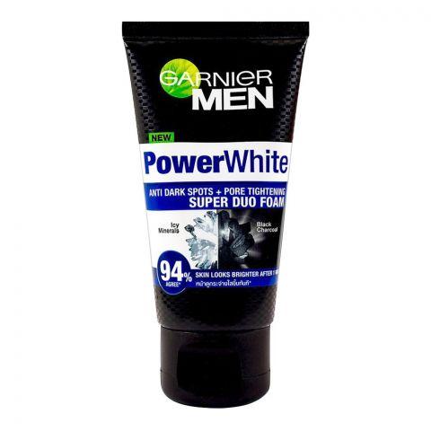Garnier Men Power White Dark Spots + Pore Tightening Super Duo Foam, 50ml
