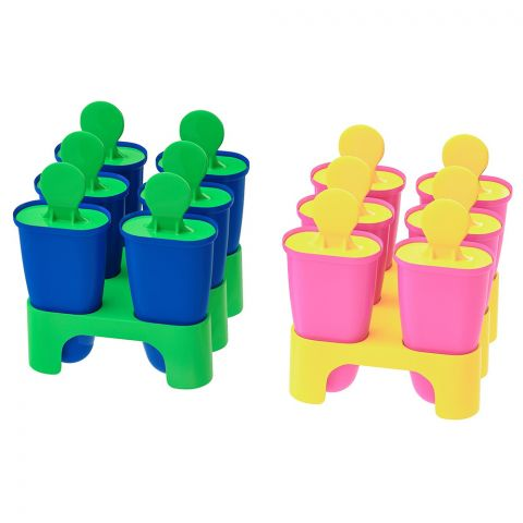 IKEA Chosigt Ice Lolly 6 Pieces Set, Pink + Yellow, 80208478