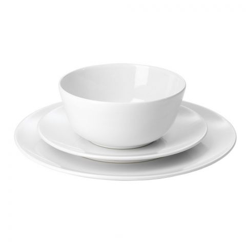 IKEA Flitighet Serving 18 Piece Dinnerware Set, White, 50333921