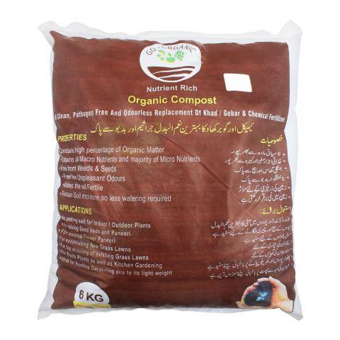 Go-Organic Nutrient Rich Organic Compost, 6 KG